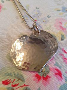 Hammer textured heart