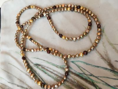 Mixed fresh water pearl endless necklace