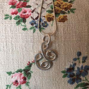 Silver Celtic spiral pendant
